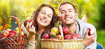 Para w sadzie